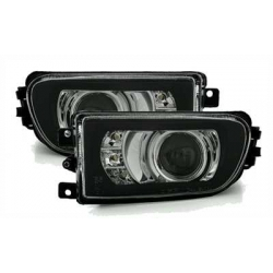 FAROS ANTINIEBLA LED LUZ DIURNA DE POSICION BMW SERIE 5 E39 Y BMW Z3. FONDO NEGRO.