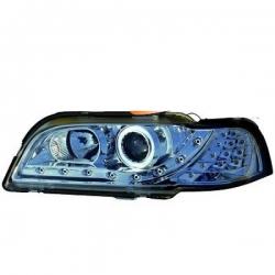 FAROS LUZ DIURNA LED S/V40,96-00- CRISTAL CLARO/CROMADO.
