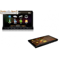 NAVEGADOR GPS DVD RADIO TABLET EXTRAIBLE ANDROID 2DIN WIFI 3G
