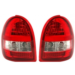 PILOTOS LED OPEL CORSA B 93-00. COLOR ROJO-CROMO.