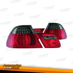 PILOTOS TRASEROS LED BMW E46 BERLINA 5P. COLOR AHUMADO-ROJO