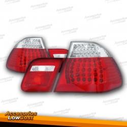 PILOTOS LED BMW E46 01-05 CRISTAL CLARO ROJO BLANCO