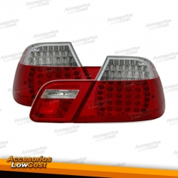PILOTOS LED BMW E46 COUPE 03-06 ROJO-CROMO