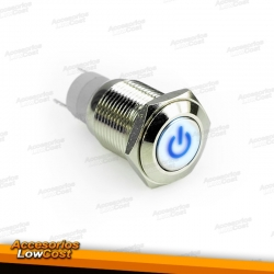 INTERRUPTOR LUMINOSO 12V AZUL.