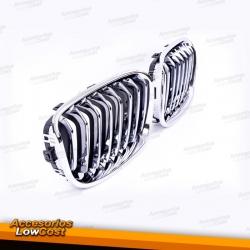 REJILLA FRONTAL ABS CROMO / NEGRO BMW SERIE 1 F20/21 CROMO 2011-