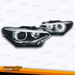 FAROS DELANTEROS BI-XENON OJOS DE ANGEL BMW SERIE 1 F20/21