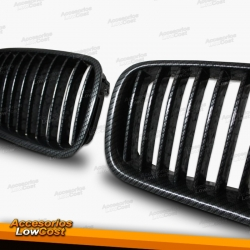 REJILLA FRONTAL ABS BMW SERIE 5 F10/11 NEGRO LOOK CARBONO 2010-