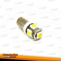 JUEGO DE 2 BOMBILLAS TIPO T11 (BA9S) 5 LEDS