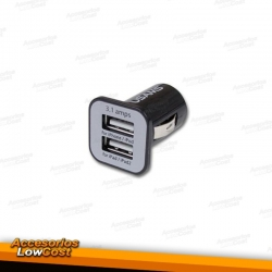 CARGADOR USB 3.1A DE MECHERO