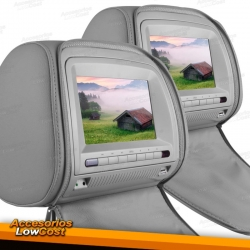 """ENCOSTOS DE CABECA LCD MULTIMEDIA DE 7"""" / CINZENTO"""