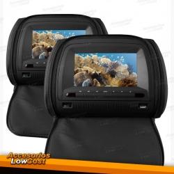 """ENCOSTOS DE CABECA LCD MULTIMEDIA DE 7"""" / PRETO"""