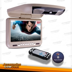 "MONITOR TECTO LCD 9"" / DVD / USB / SD / BEGE"