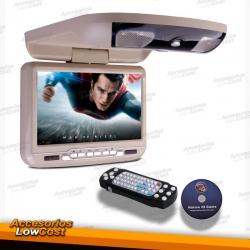 """PANTALLA DE TECHO 9"""" COLOR BEIGE, CON REPRODUCTOR DE DVD, USB Y TARJETA SD"""