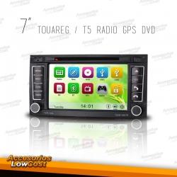 RADIO NAVEGADOR 7 PULGADAS HD ESPECIFICO PARA VW TOUAREG 04-10, T5 04-09
