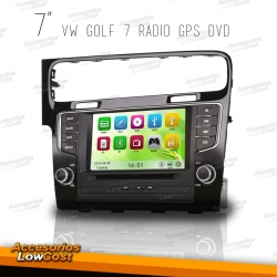 RADIO NAVEGADOR 7 PULGADAS HD ESPECIFICO PARA VW GOLF 7 2012-