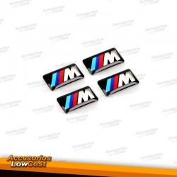 PACK DE 4 PEGATINAS M PARA BMW
