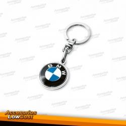 LLAVERO BMW REDONDO EN METAL CROMADO