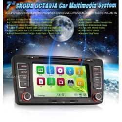 "AUTO RADIO 2DIN 7"" DVD GPS TIPO OEM / SKODA OCTAVIA III 09-12"