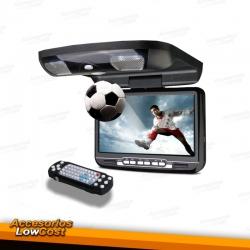 """PANTALLA DE TECHO 9"""" COLOR NEGRO, CON REPRODUCTOR DE DVD, USB Y TARJETA SD"""