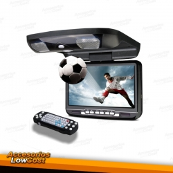 """MONITOR TECTO LCD 9"""" / DVD / USB / SD / PRETO"""