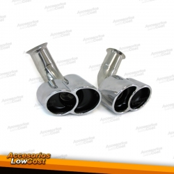 EMBELLECEDORES DE ESCAPE PARA PORSCHE 911 Y 996 TURBO (2002-2005)