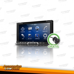 RADIO 2DIN GPS DVD CON PANTALLA TACTIL HD BLUETOOTH CON CAMARA MARCHA ATRAS