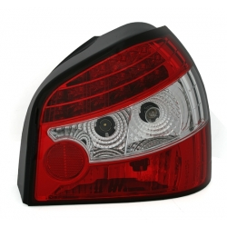 PILOTOS LED AUDI A3 8L (8/96-8/03). COLOR ROJO-BLANCO. OBLICUOS.