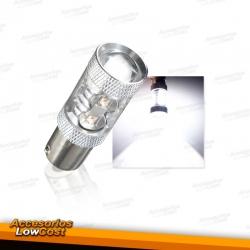 BOMBILLA BA15S LED CANBUS LUZ BLANCA 6000K