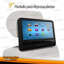 PANTALLA PARA REPOSACABEZAS 9 PULGADAS TACTIL LCD, DVD, ENTRADAS USB Y SD. JUEGOS 32 BITS.