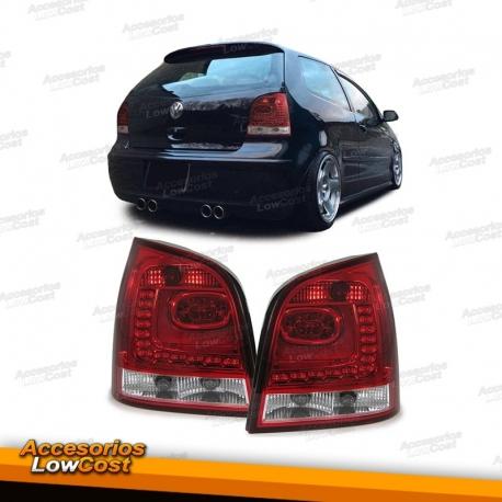 LED CRISTAL CLARO FAROS TRASEROS rojo claro para VW Polo 9n3 05-09