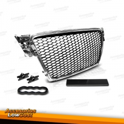 PARRILLA FRONTAL AUDI A8 08-11 CROMO LOOK RS