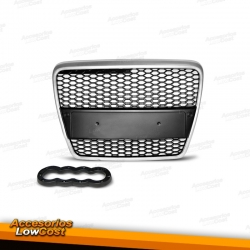 PARRILLA CENTRAL AUDI A6 4F 04-10 LOOK S6 BORDE CROMO