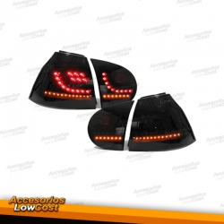 PILOTOS TRASEROS LED GOLF 5 CRISTAL NEGRO.