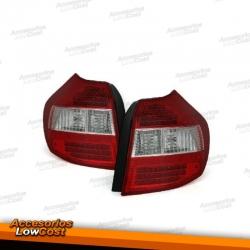 PILOTOS LED BMW SERIE 1 E87 04-06 ROJO-BLANCO.
