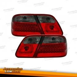 PILOTOS LED PARA MERCEDES CLASE E W210 95-02, ROJO/AHUMADO