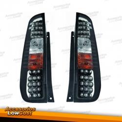 PILOTOS TRAS. LED FORD FIESTA 02- , LED 3 PUERTAS, CRISTAL CLARO/NEGR,