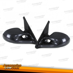 RETROVISORES EXTERIORES CARBONO PARA BMW E30 82-94, MANUAL.