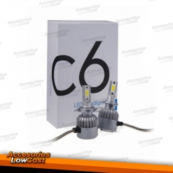 KIT / CONJUNTO LAMPADAS CREE LED H7 5600K TIPO XENON