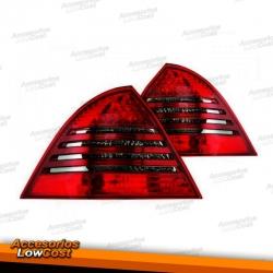 PILOTOS LED MERCEDES W203, 00-04 LED ,CRISTAL CLARO/ROJO-GRIS