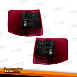 PILOTOS TRAS. LED A6, 97-04 - CRISTAL CLARO/ROJO-NEGRO/AVANT