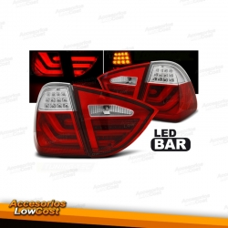 PILOTOS BMW E91 TOURING 05-08 LED CROMO ROJO LIGHTBAR