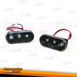 INTERMITENTES LATERALES VW+SEAT (96-08) LED. CRISTAL CLARO/NEGRO