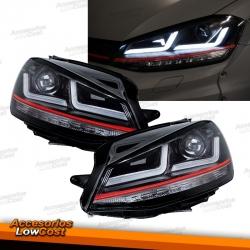 FAROS FULL LED PARA VW GOLF 7, 12-17, Look GTI, ACTUALIZACION PARA XENON Y HALÓGENO DRL