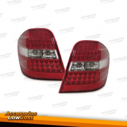 PILOTOS LED MERCEDES ML W164. COLOR ROJO-CROMO.