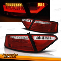 PILOTOS LED PARA AUDI A5 07-11, LIGHT BAR FONDO CROMO
