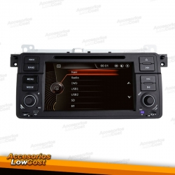 SISTEMA MULTIMEDIA CON WINDOWS CE, NAVEGADOR GPS DVD PANTALLA TÁCTIL HD 7'' PARA BMW E46, MG ZT Y ROVER 75.