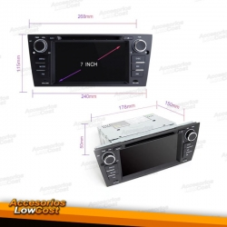 RADIO GPS ANDROID HD TACTIL PARA BMW SERIE 3 E90/1 E92/3