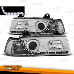 FAROS LUZ DIURNA LED BMW E36, 90-99 COLOR CROMO LIM/TOURING