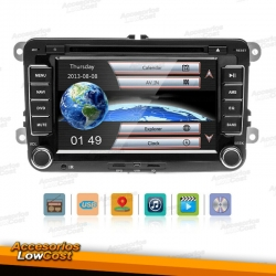 NAVEGADOR MULTIMEDIA 2DIN GPS DVD ESPECÍFICO PARA VW, SEAT, SKODA.