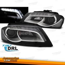 FAROS CON LUZ DIURNA LED + H7 PARA AUDI A3 8P, 2008-2012